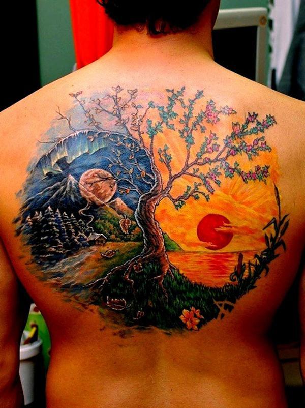 Yin Yang Tattoo Designs-13