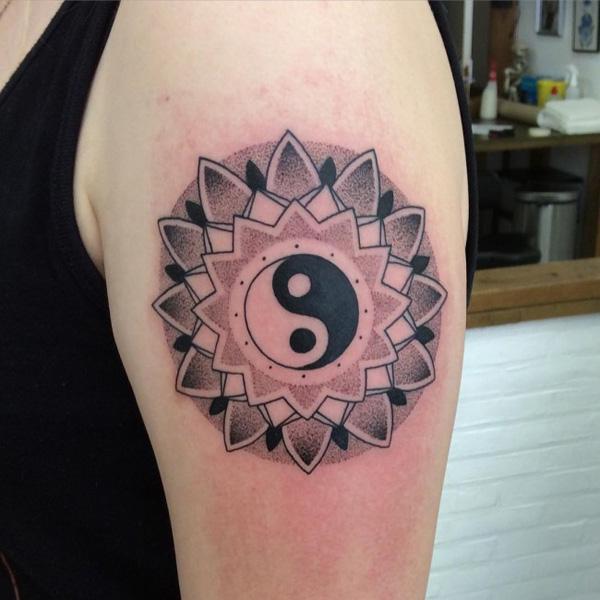 Yin Yang sleeve Tattoo-9