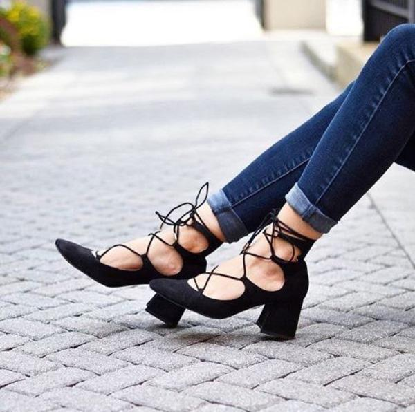ZARA LACE-UP HIGH HEEL SHOES