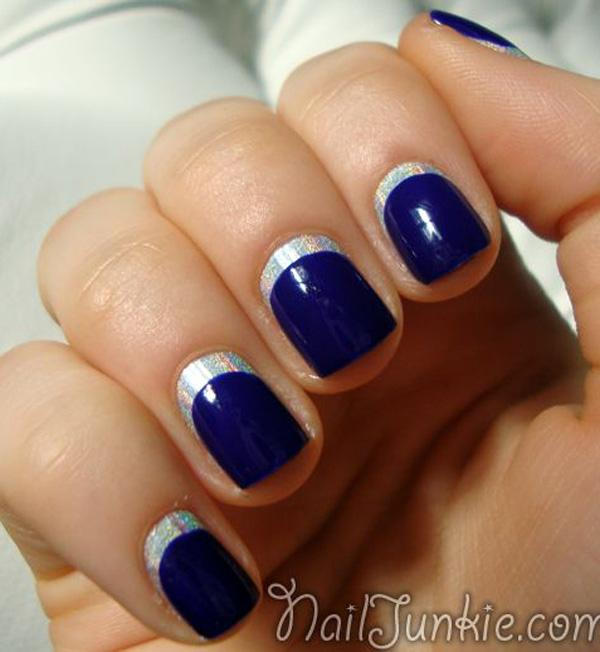 blue with silver crescent moon nails-30