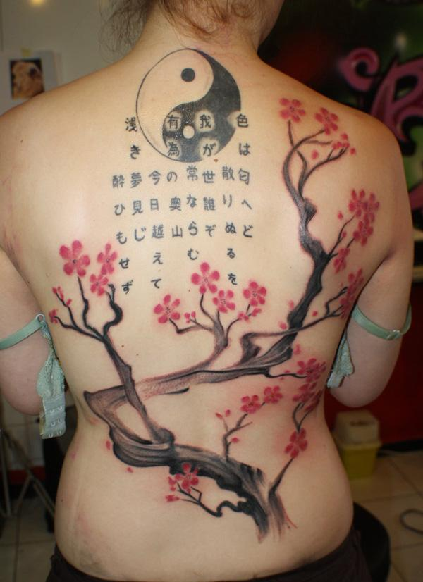 cherry tree and yin yang back tattoo by simplytattoo-22