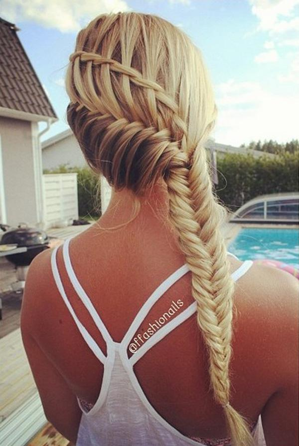 fishtail braid combo hairstyle bmodish 40 ADORABLE BRAIDED HAIRSTYLES YOU WILL LOVE
