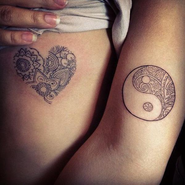 heart and yin yang tattoo-45