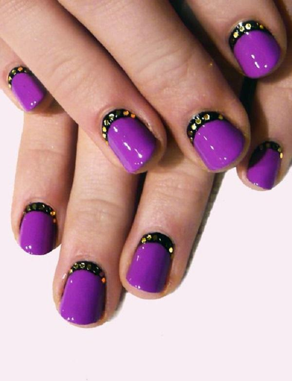purple and black crescent moon nails-29