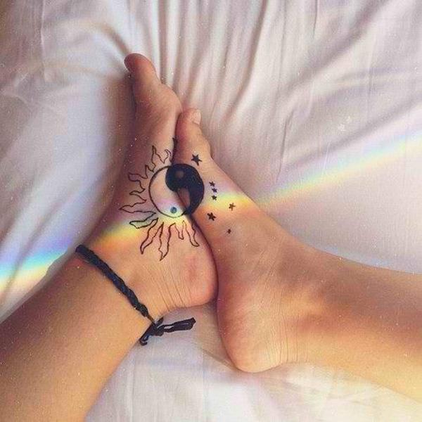 yin yang foot tattoo -42