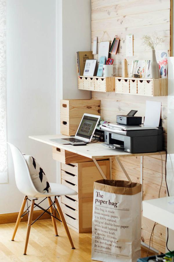A workspace in Nordic home