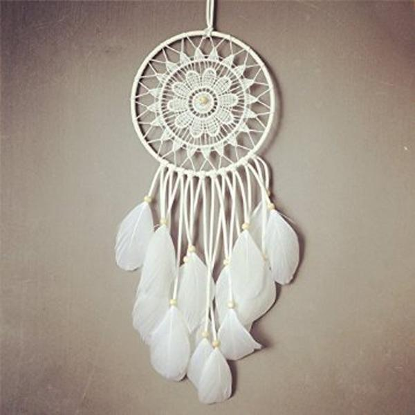 Authentic Native American Dream Catcher Tapestry Europe White Wall Hanging Dream Catcher for Room Car Decorate