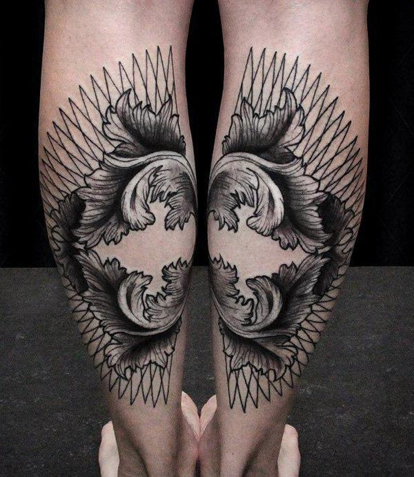 Calf Tattoo-5