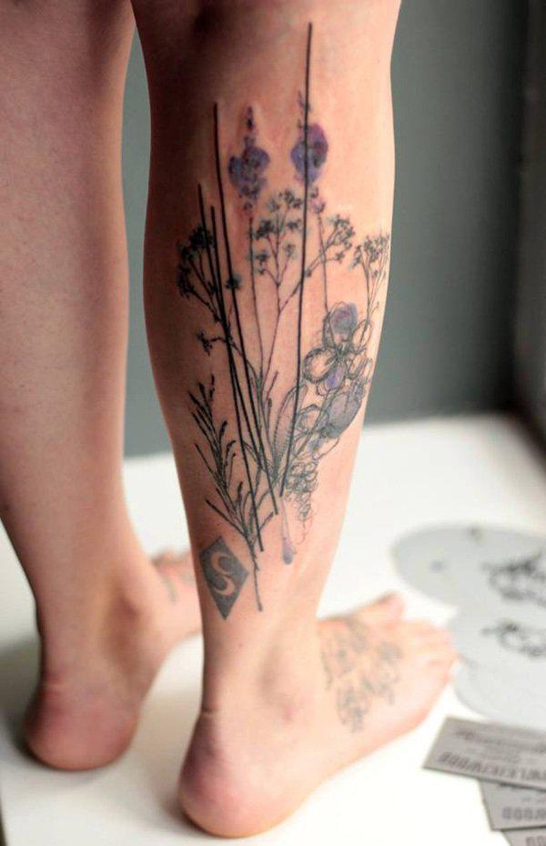 Calf tattoo-26