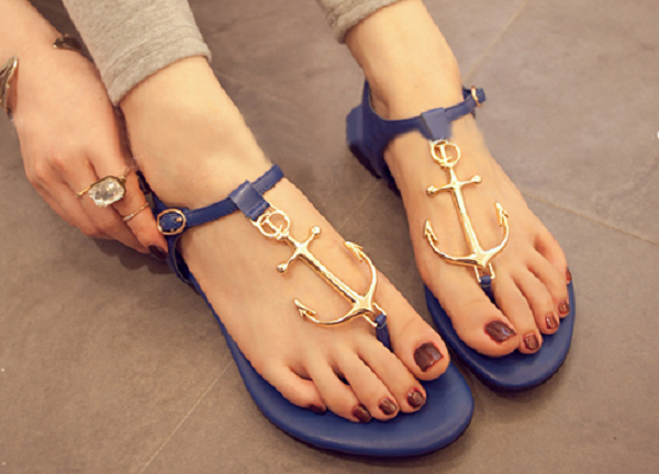 Cute Anchor strap Sandals