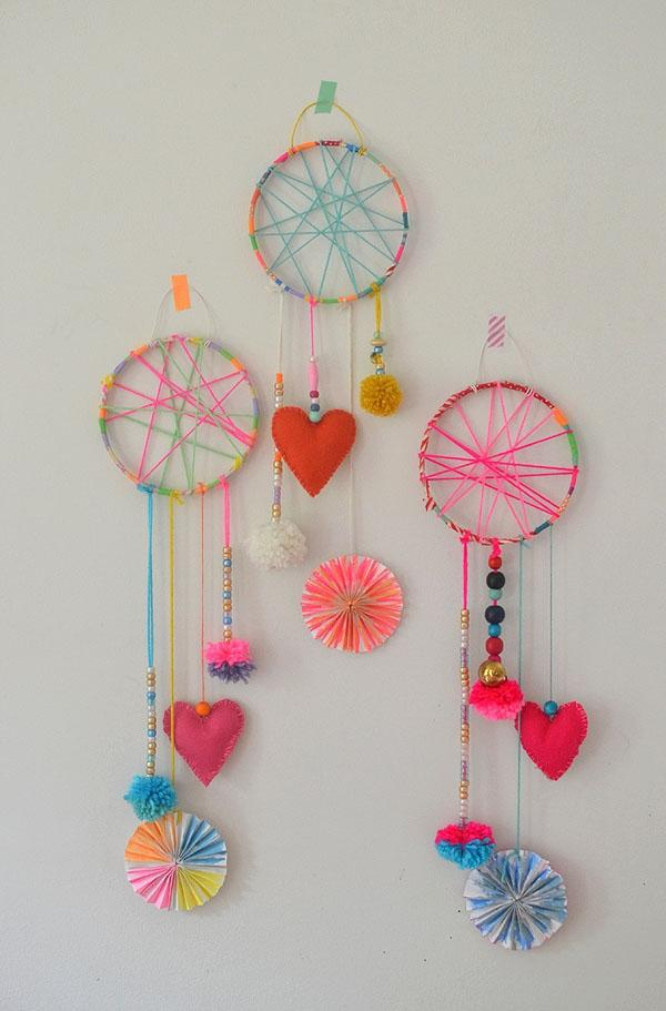 DIY Dream Catchers Made by Kids