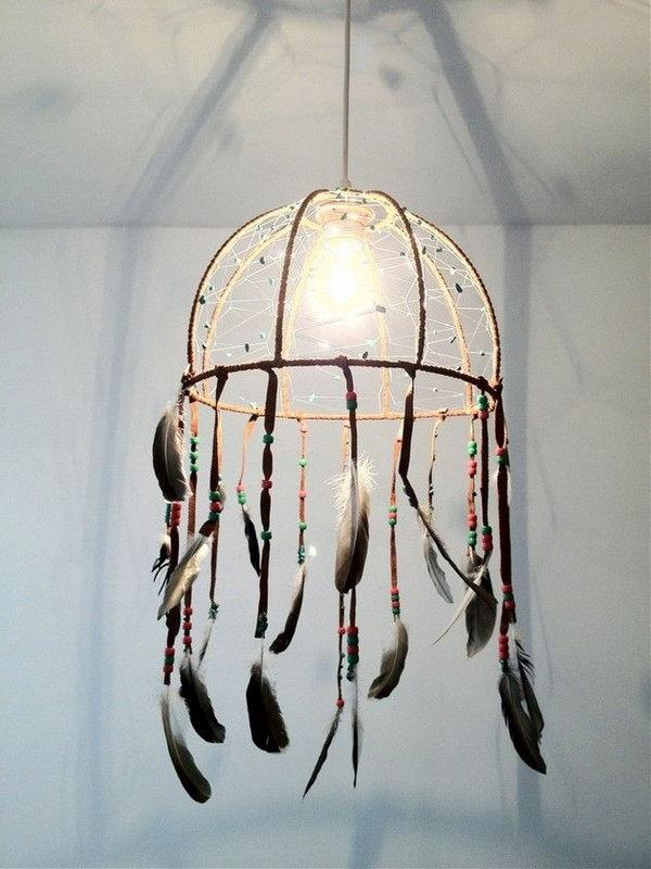 Perfect This one is a fusion between a lamp and a dream catcher