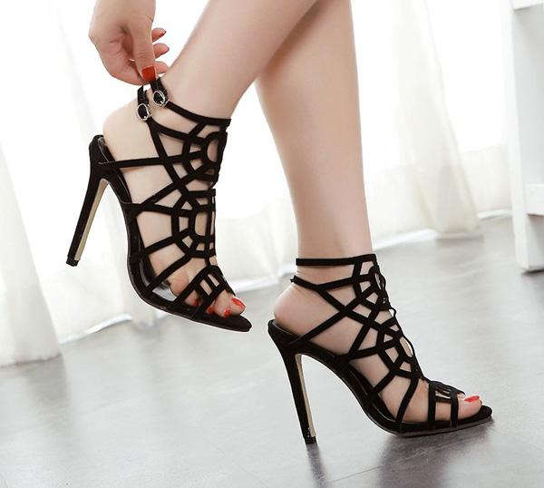 Summer Fashion Women High Heels Leather Sandals