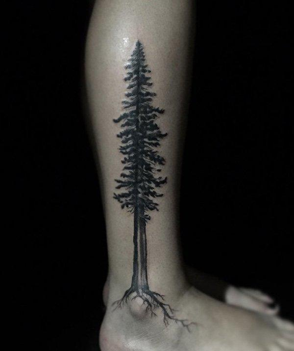 Tree Calf Tattoo-2