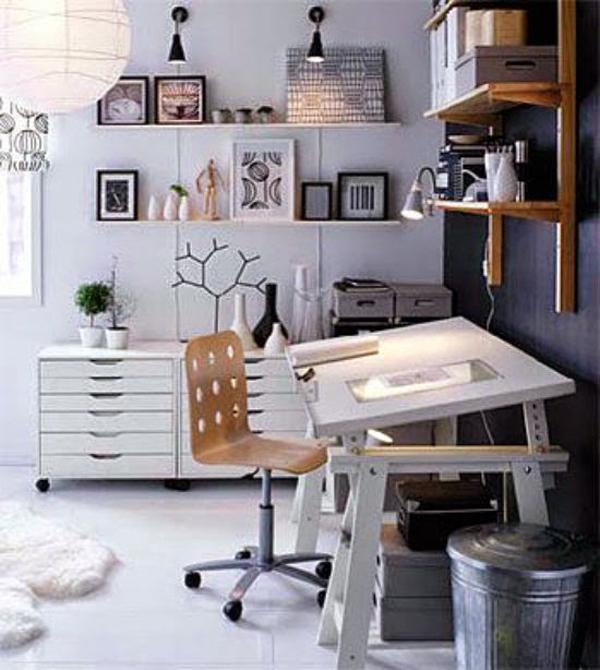 White-drafting-table
