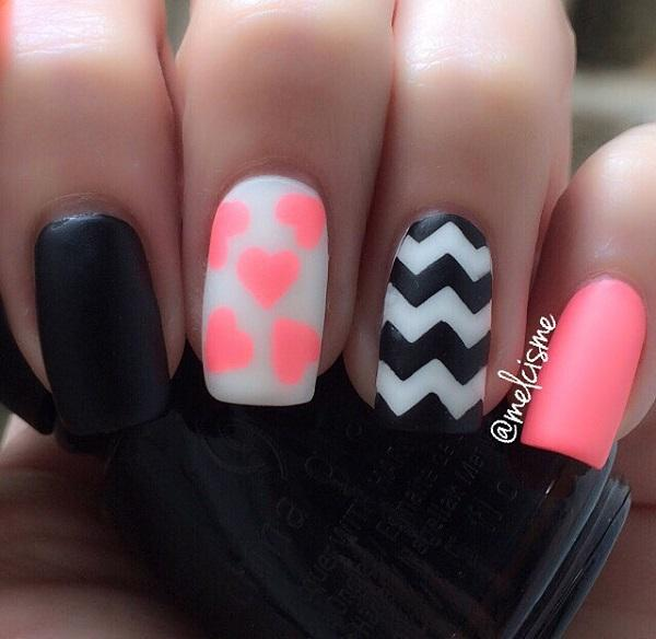 chevron nail art-1