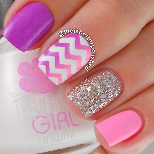 chevron nail art-17