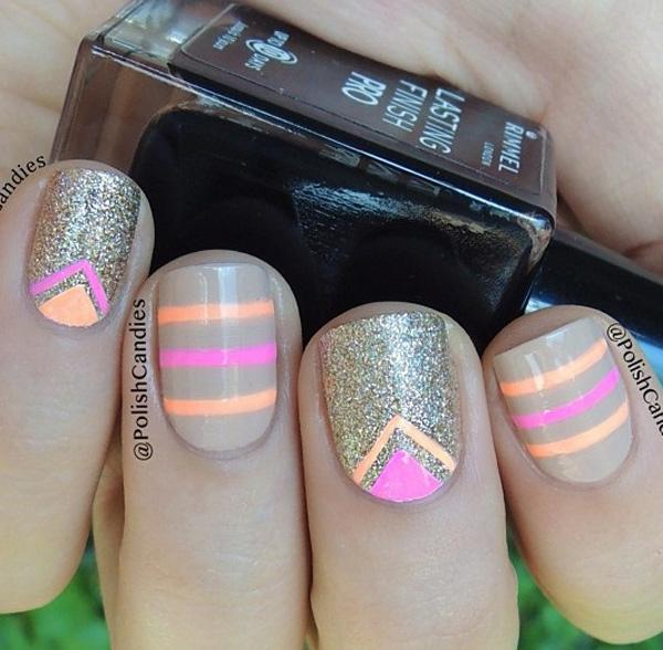 chevron nail art-19