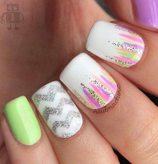 chevron nail art-22