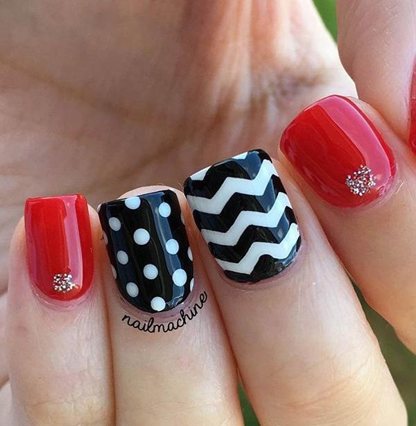 chevron nail art-23