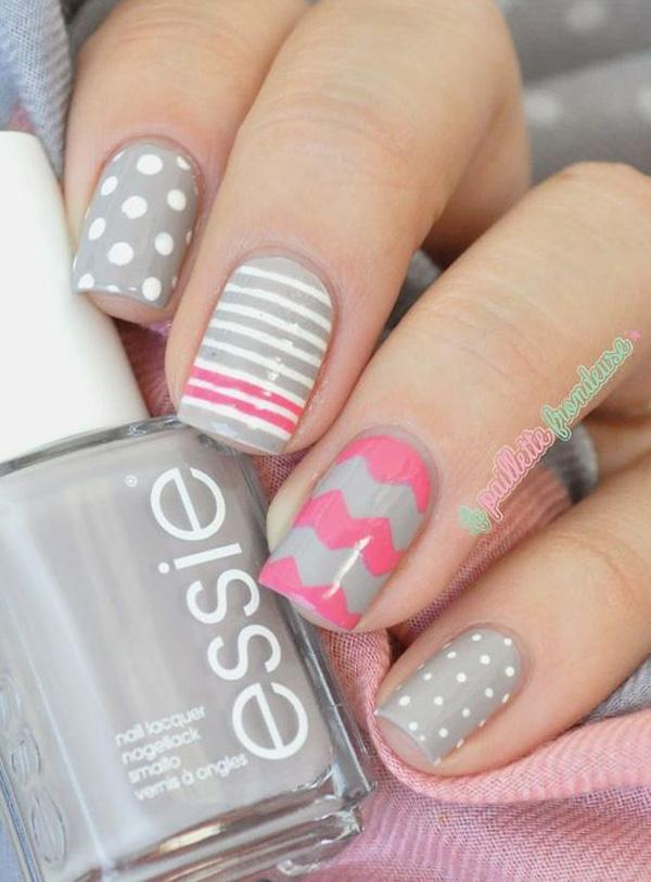45 Chevron Nail Art Ideas | Art and Design