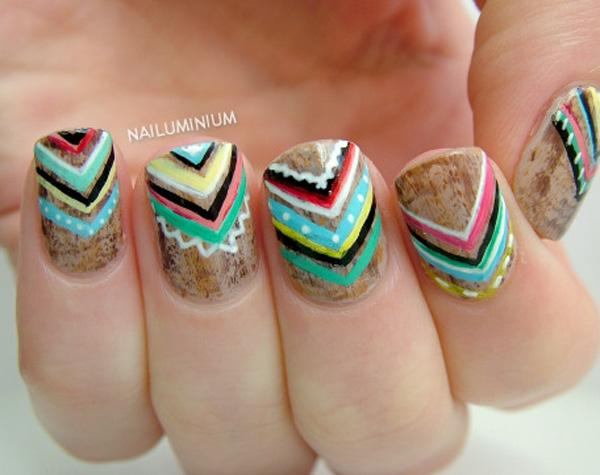 chevron nail art-42