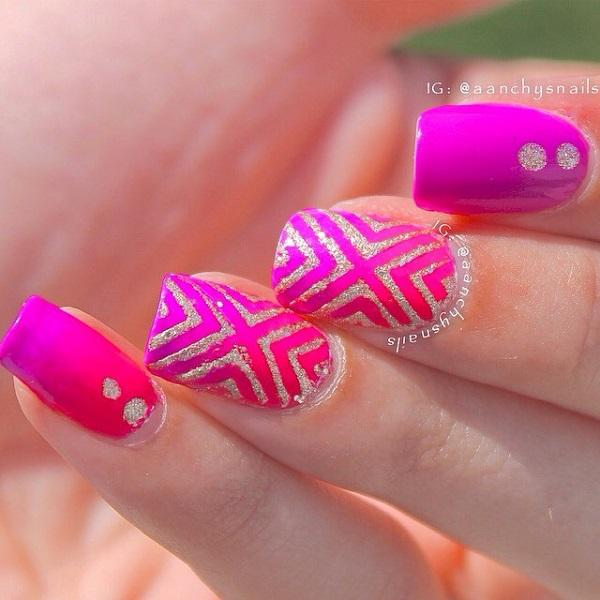 chevron nail art-7