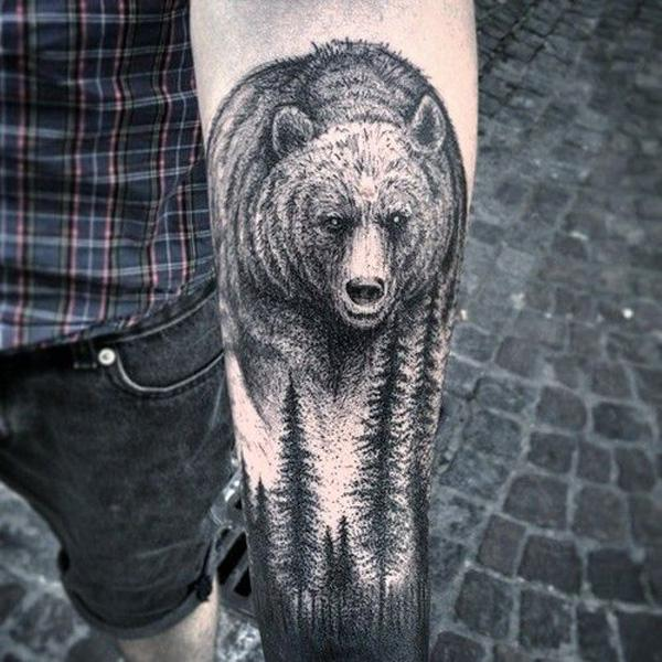 forest and bear tattoo-34