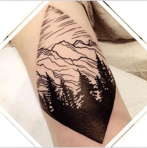 forest and mountain tattoo-4