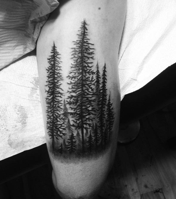 forest arm tattoo-33