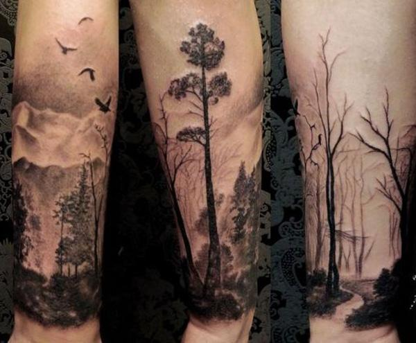 forest forearm tattoo-28