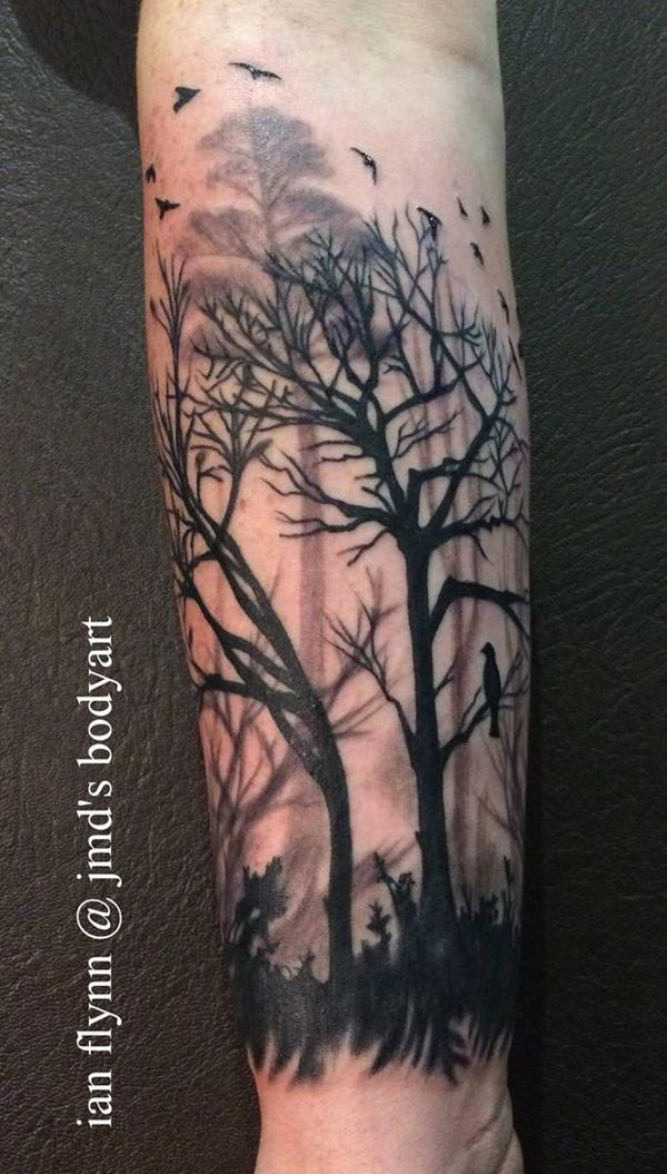 forest sleeve tattoo-40