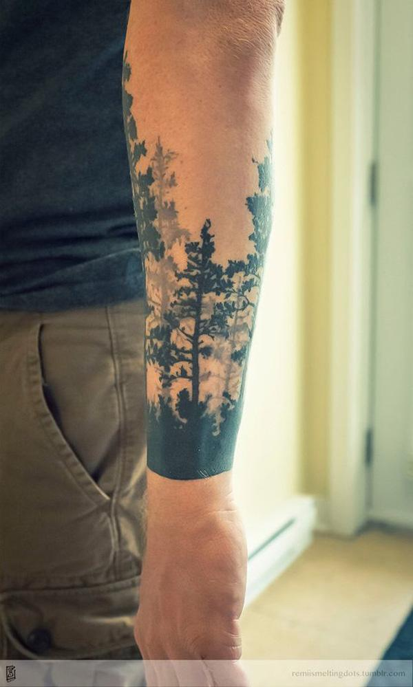 forest sleeve tattoo-44