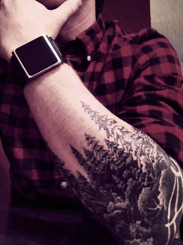 forest sleeve tattoo for man-24