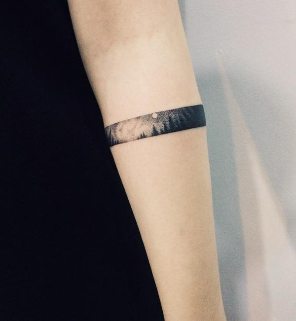 forest tattoo for girl-2