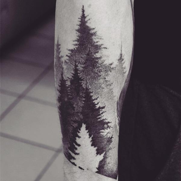 90aa4d173 Forest tattoos are often great to look at since you know somewhere, there  is actually ...