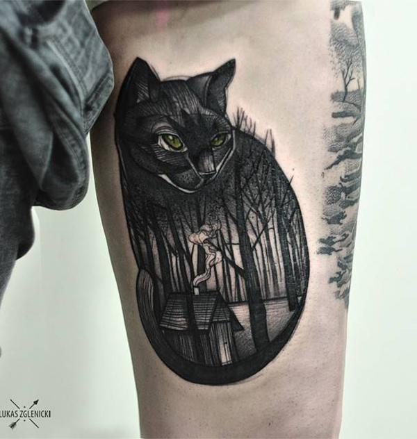 forest with cat tattoo-16