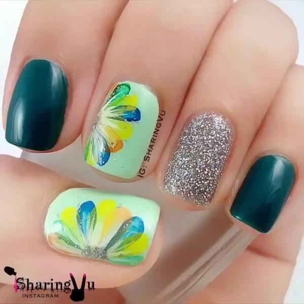 green nail-29