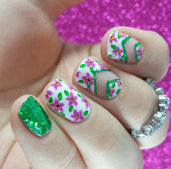 45 refreshing green nail art ideas art and design green nail 45 refreshing green nail art ideas prinsesfo Choice Image