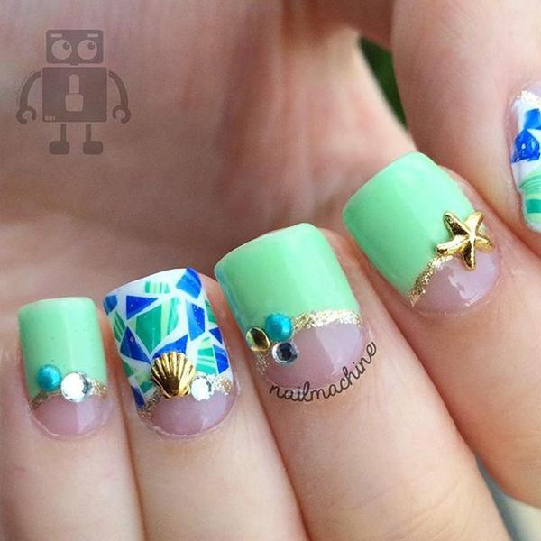 green nail-47