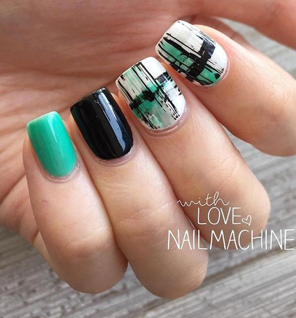 45 Refreshing Green Nail Art Ideas Art And Design
