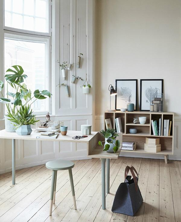 Another idea with putting plants inside your home office. It will look  refreshing in pictures ...