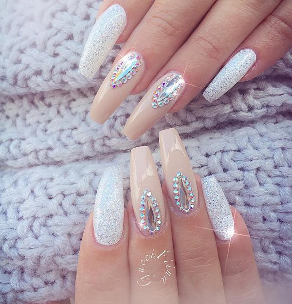 Since Coffin Nails Are Longer It Would Give You More Freedom For Designing With Diamonds