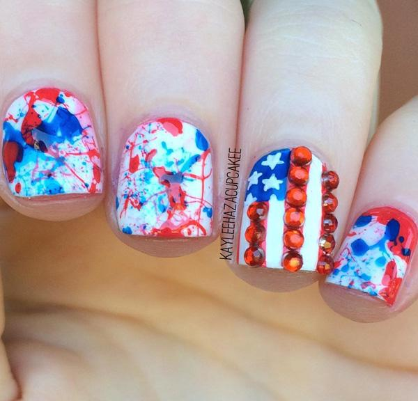 fourth of july nail-10