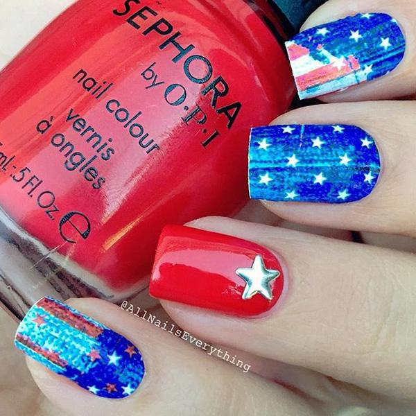 fourth of july nail-13
