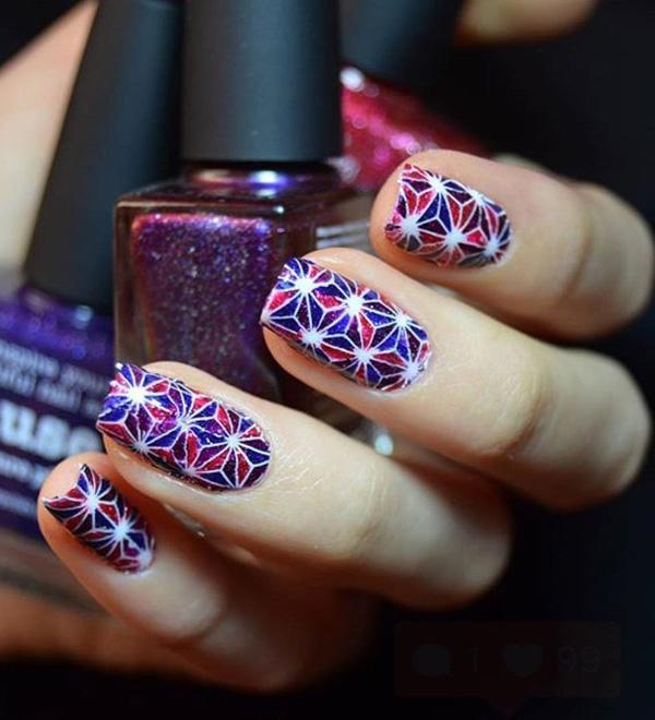 fourth of july nail-16
