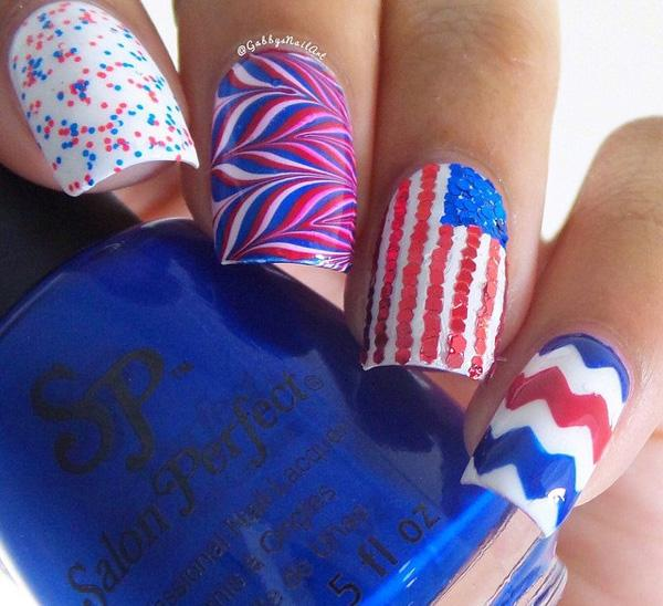 fourth of july nail-19