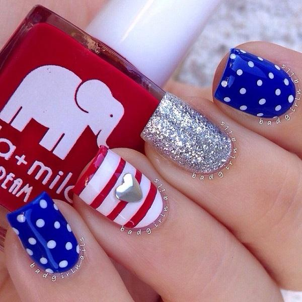 fourth of july nail-2