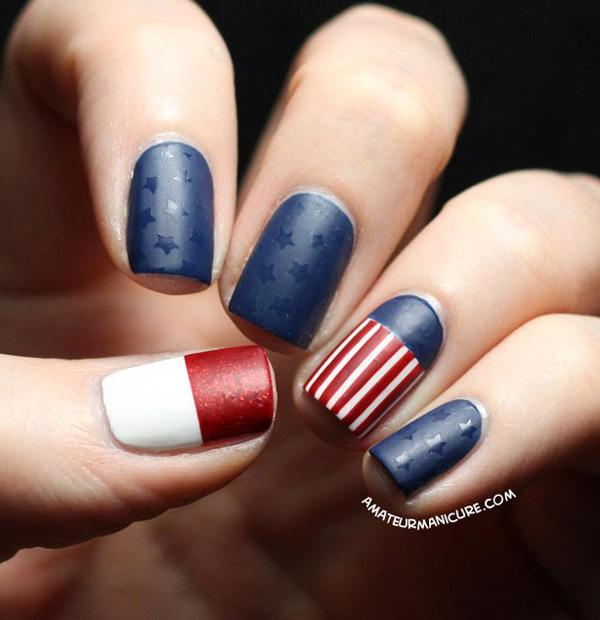 fourth of july nail-25