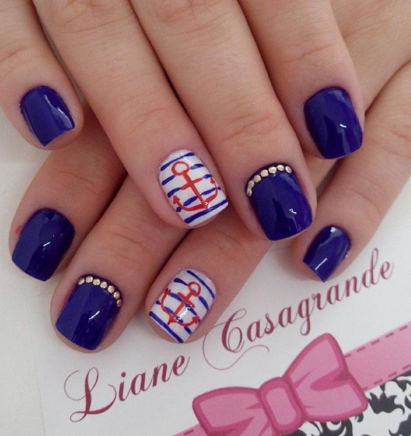 fourth of july nail-26